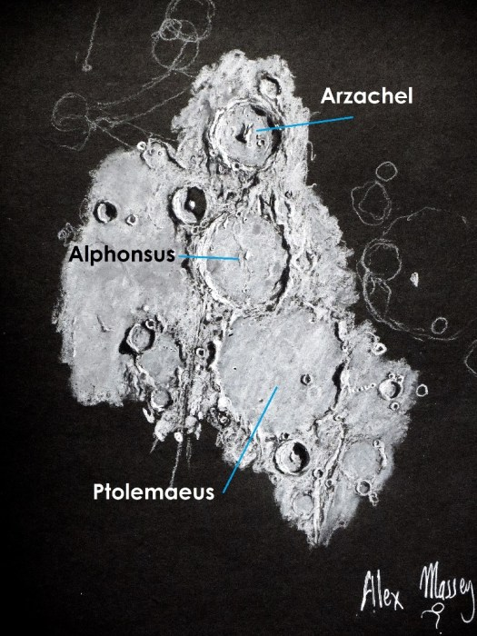 Shapes with Shadows – astrosketching Moon features with Alex Massey