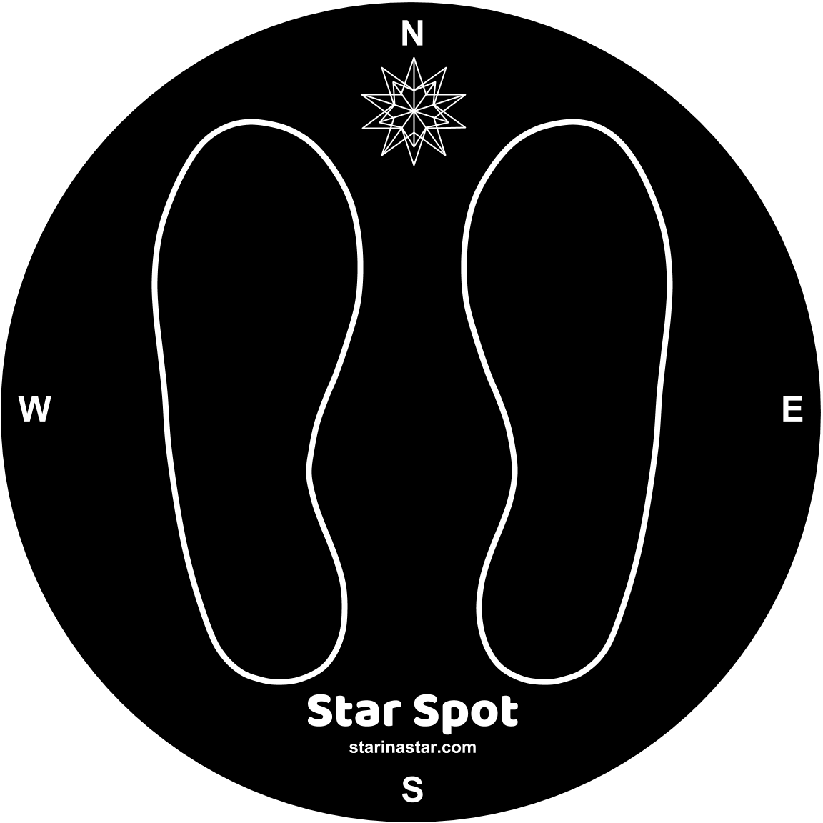Star Spot decal you can use to find and mark your own North Star