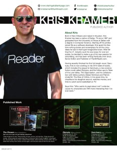Author Media Kit for Kris Kramer