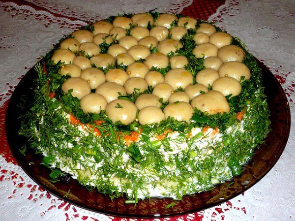 Салат полянка с грибами – Салат «Грибная поляна ...
