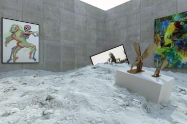 Die virtuelle Ausstellung von Katharina Grosse mit Werken von Maria Lassnig, Emily Kame Kngwarreye, Valie Export und Camille Henrot- Copyright: RB/SR/WDR / © Willem Rabe/phlox-films