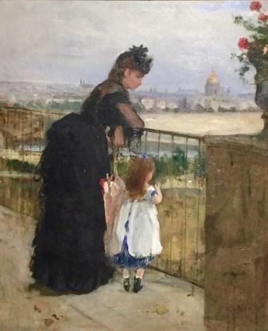 Berthe Morisot, Frau und Kind auf dem Balkon, 1872 © starkandart.com