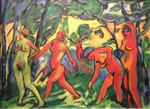 Max Pechstein - Blauer Tag, 1911, Öl auf Leinwand, Kunstforum Ostdeutsche Galerie Regensburg ©starkandart.com