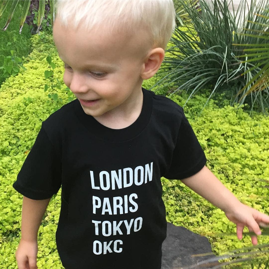 Stark and Basic London Paris Tokyo OKC toddler shirt 2