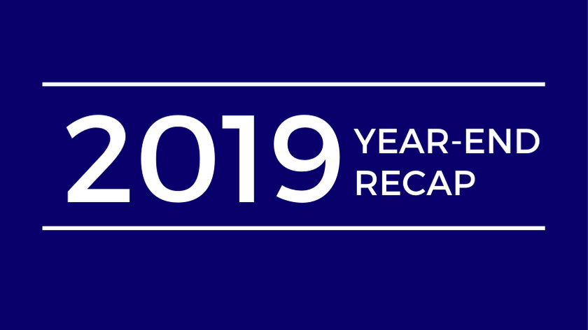 2019 Year End Recap