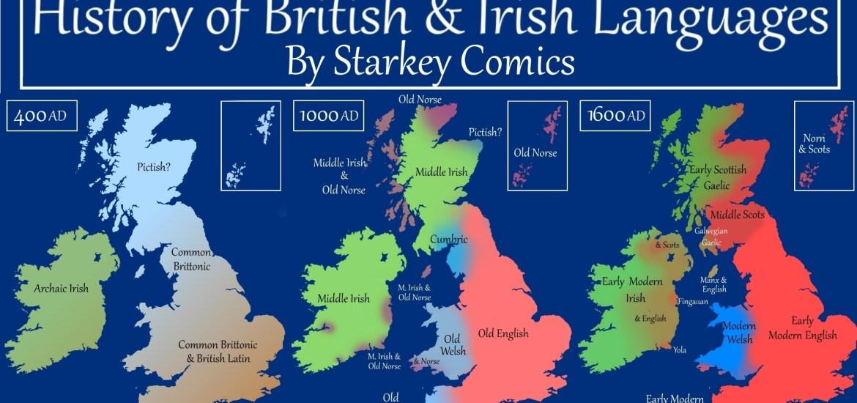 Map Of Ireland 600 Ad.A Brief History Of British And Irish Languages Starkey Comics