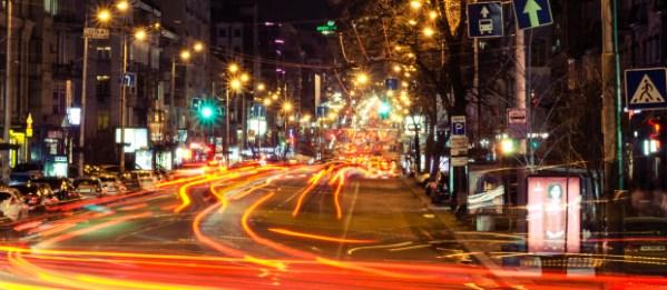 Старый Киев | Киев Blur. Ночной город на фото Олега Осадчего