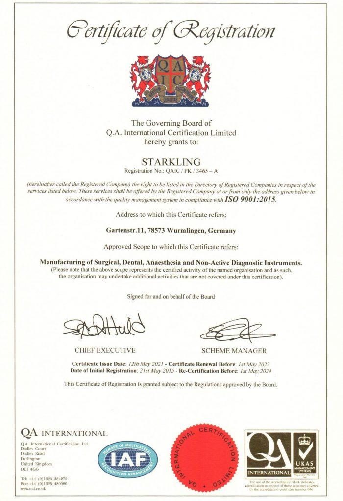 Starkling ISO 9001 Von 2021 1 700x1020
