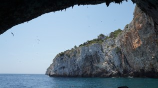 Zinzulusa Cave, looking out the the sea.