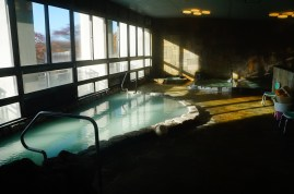 One of the many onsen pools (I happened to be in there when there were no other people around.)