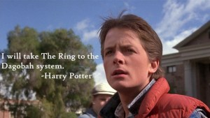 Back to the Future Marty McFly Harry Potter Star Wars Lord of the Rings Meme (Permission Required)