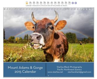 2015 calendar cover, Mount Adams and the Gorge