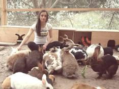 Tabea mit ihren tierischen Freunden. (Foto: Tabea Berger)