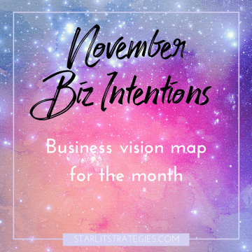 November Biz Intentions