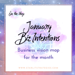 January + 2017 Intentions and Goals