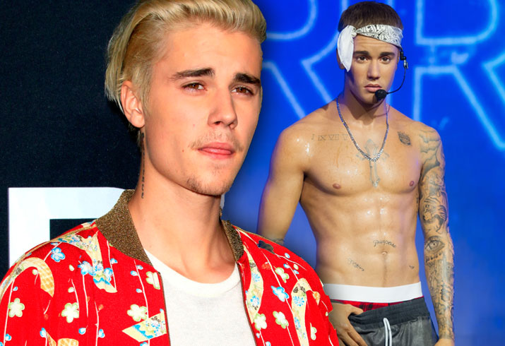 justin bieber 39 horrified 39 over his wax figure in london. Black Bedroom Furniture Sets. Home Design Ideas