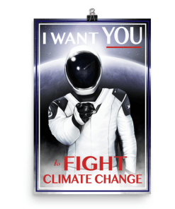 Starman wants you to fight climate change.