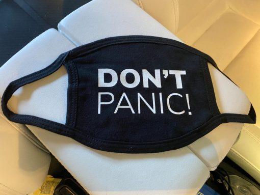 Don't Panic Face Mask