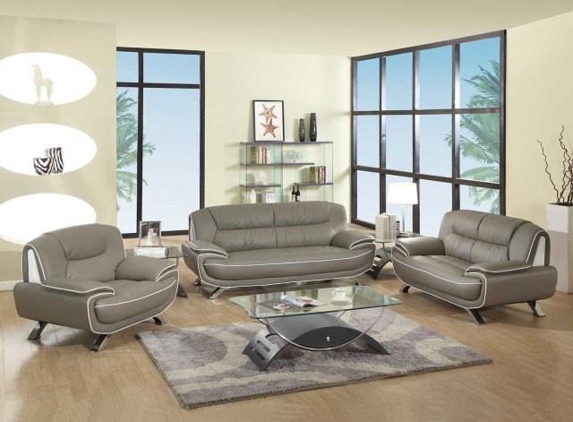 504 Modern Italian Leather Sofa Set Red - Leather Sofa ...