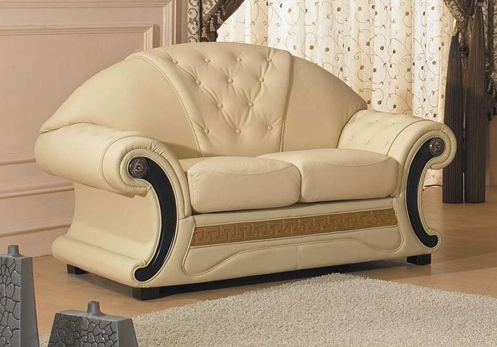 Cleopatra Traditional Leather Sofa Set Classic Leather