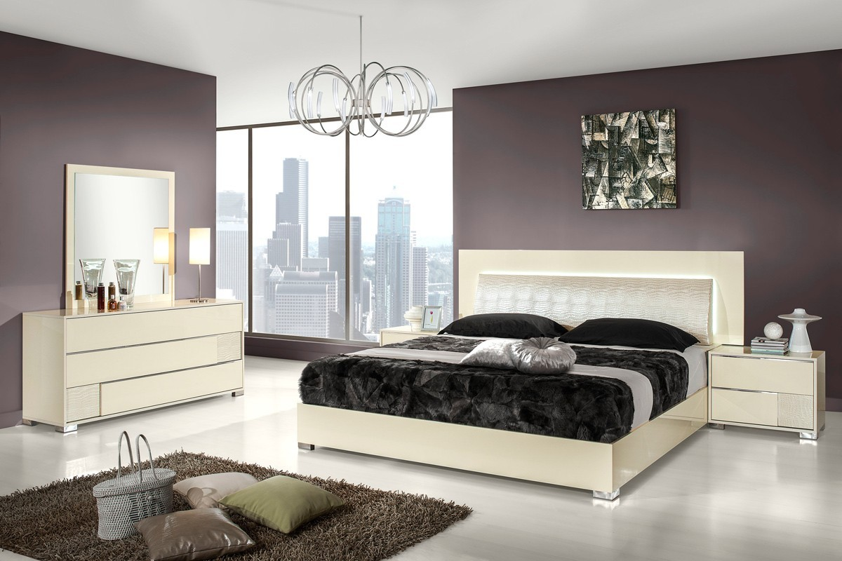 We may earn commission on some of the items you choose to buy. Modrest Grace Italian Modern Beige Bedroom Set Star Modern