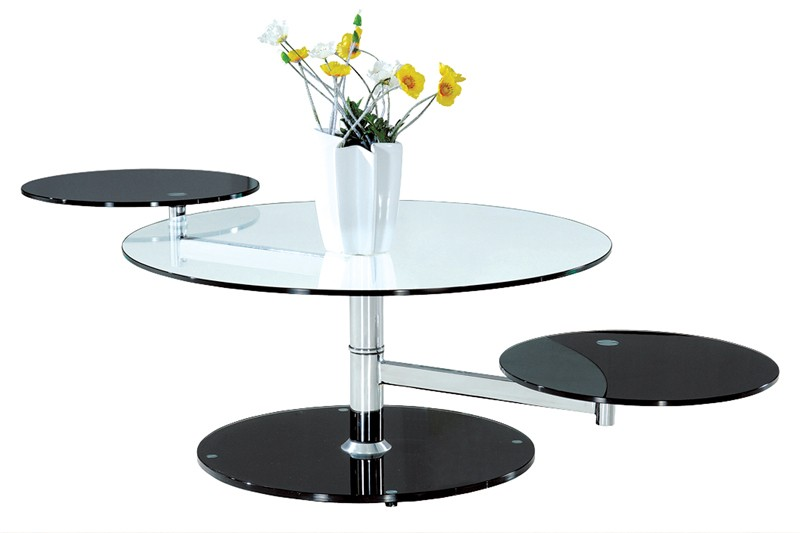 modern swivel glass coffee table star modern furniture