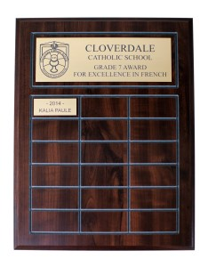 Awards & Recognition Perpetual Plaque