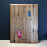 Custom Engraving - Cedar Wood Key Ring Holder Plaque