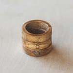 Custom Engraving - Wood Rings With Superhero Logos