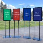 Signage - Large Standing Garbage Signs