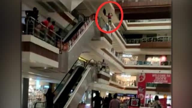 पति की आत्महत्या के दो दिन बाद पत्नी ने भी मॉल की तीसरी मंजिल से लगाई छलांग