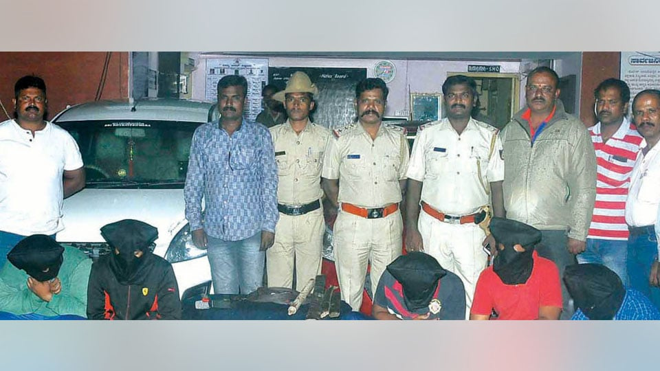 Five arrested for honey-trapping; woman, two others absconding