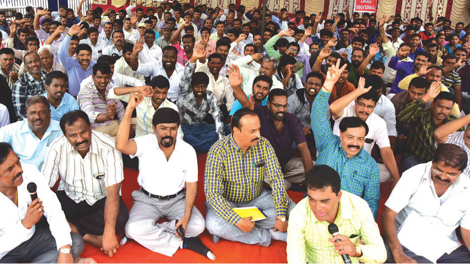 Cauvery Grameena Bank daily wage employees demand regularisation
