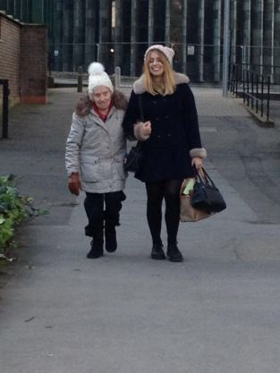 Me and Nan stopping round Cov