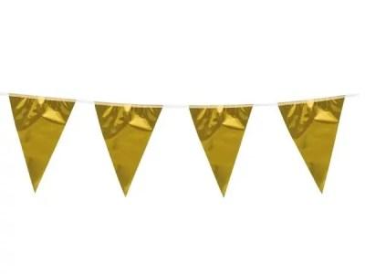 Plastikust bänner läikiv kuldne 10m