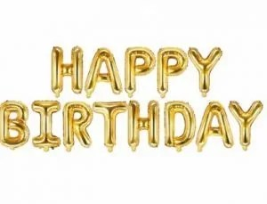 Bänner Happy Birthday (õhupallidest)