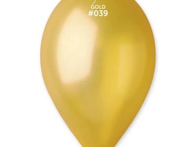 Kummist õhupall metalli läikega kuldne (39)