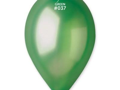 Kummist õhupall metalli läikega tumeroheline (37)