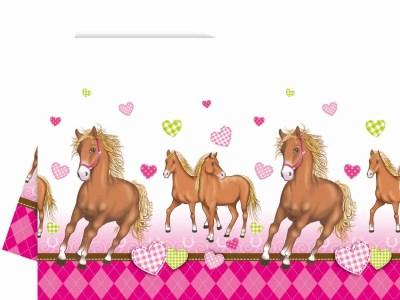 Plastikust laudlina hobustega