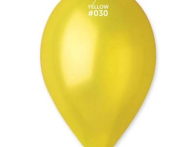 Kummist õhupall metalli läikega kollane (30)