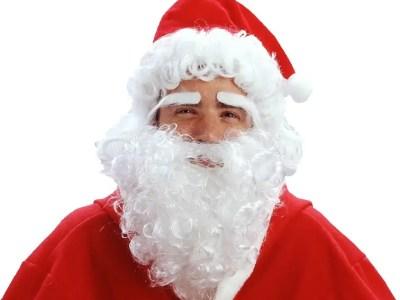 Jõuluvana müts koos habeme ja kulmudega