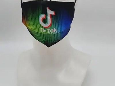 Riidest korduvkasutatav mask TikTok