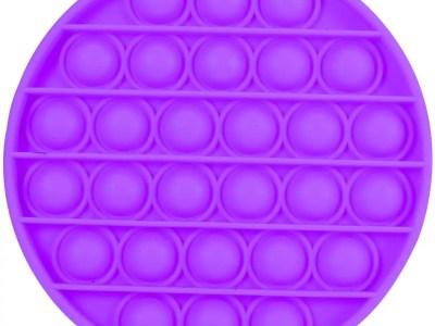 POP IT lilla ümar 12,5*12,5*1,5cm