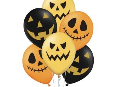 """Halloweeni kummist õhupallid 6tk, 12"""""""
