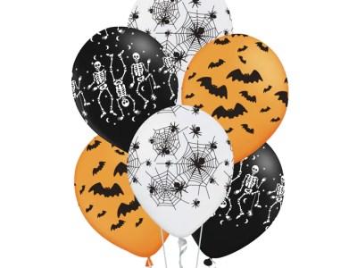 """Kummist õhupallid Halloweeniks 6tk, 12"""""""