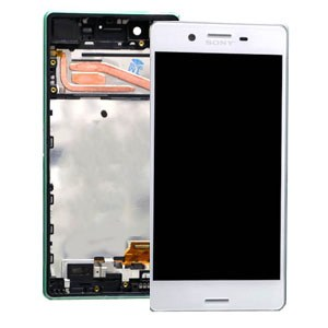 SONY XPERIA X LCD DISPLAY WITH DIGITIZER AND FRAME WHITE