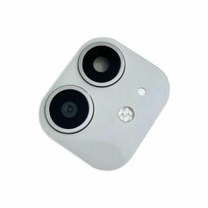 For iPhone 11 Replacement Camera Lens With Frame and Sticker White