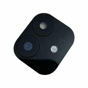 For iPhone 11 Replacement Camera Lens With Frame and Sticker black