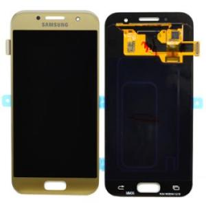 Samsung Galaxy A3 LCD Screen Complete With Frame Assembly Unit Gold