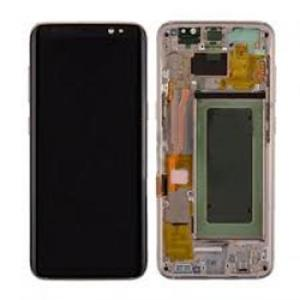 Samsung S8 LCD Screen Complete With Frame Assembly Unit Gold